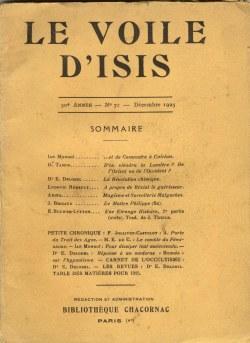 Adina, revue Le voile d'Isis, décembre 1925
