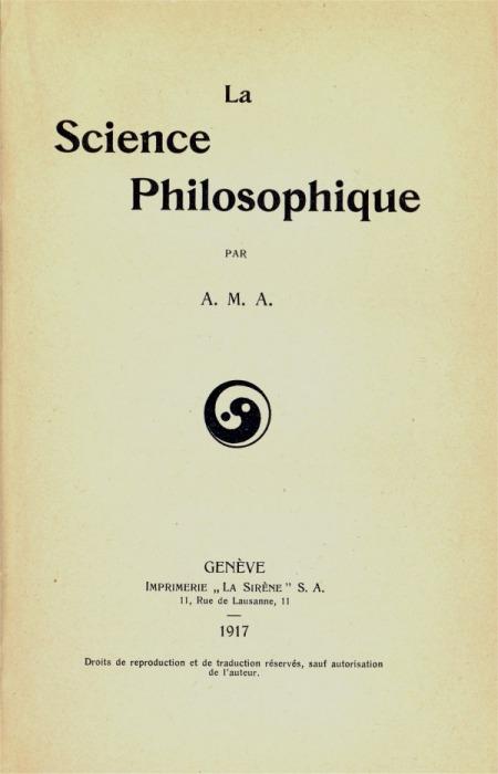 Livre d'Assan Dina : la Science philosophique