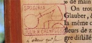Ex-libris de Julien Champagne SPAGIRIA