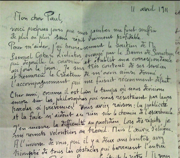 Courrier de Pierre Dujols � Paul Dec...