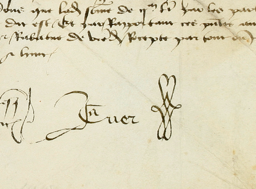 Signature de Jacques Coeur, Archives du Cher